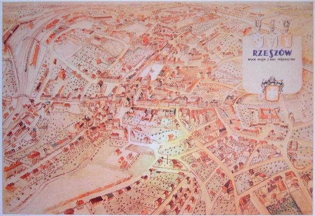 Plan miasta Rzeszowa z 1936 r. (w zbiorach Muzeum Okręgowego w Rzeszowie.