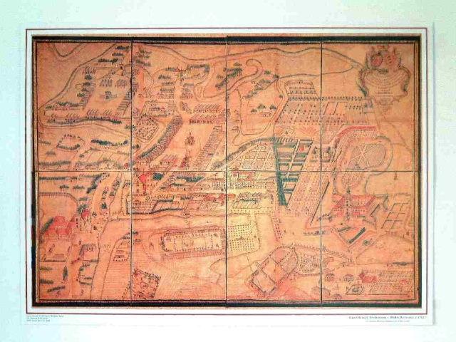 Widok Rzeszowa według mapy Wiedemanna (w zbiorach Muzeum Okręgowego w Rzeszowie).