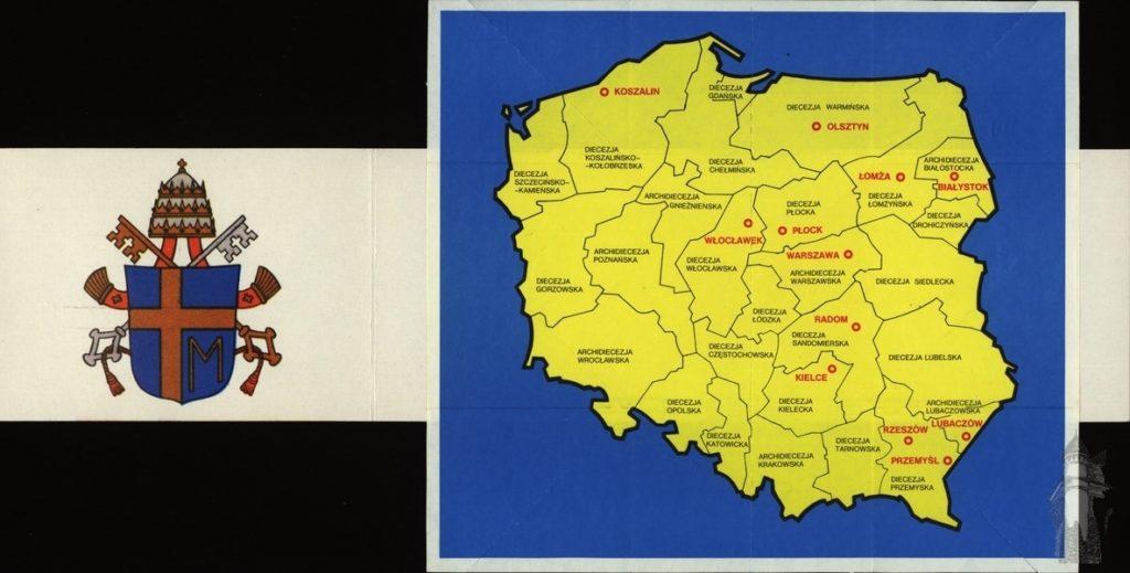 Jan Pawel II - pielgrzymki 1991 mapa