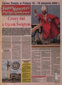 Jan Pawel II - pielgrzymki 2002