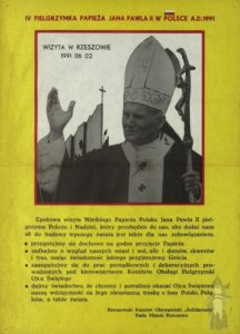 Jan Pawel II - pielgrzymki - Rzeszow 1991