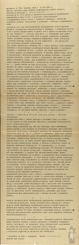 Jan Pawel II - pielgrzymki informacja 1983 rok 5