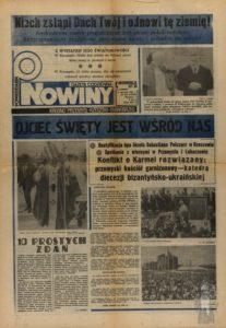 Jan Pawel II - pielgrzymki okladka Nowin