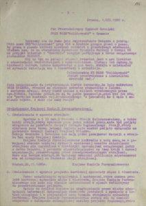 Biuletyn Informacyjny Nr 5 Podkarpackiego Regionalnego Komitetu Założycielskiego NSZZ Solidarność w Krośnie z 1980 r., s.196