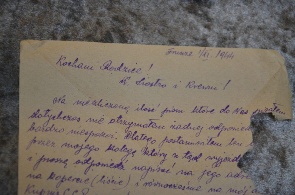 Fragment wystawy (list 2)