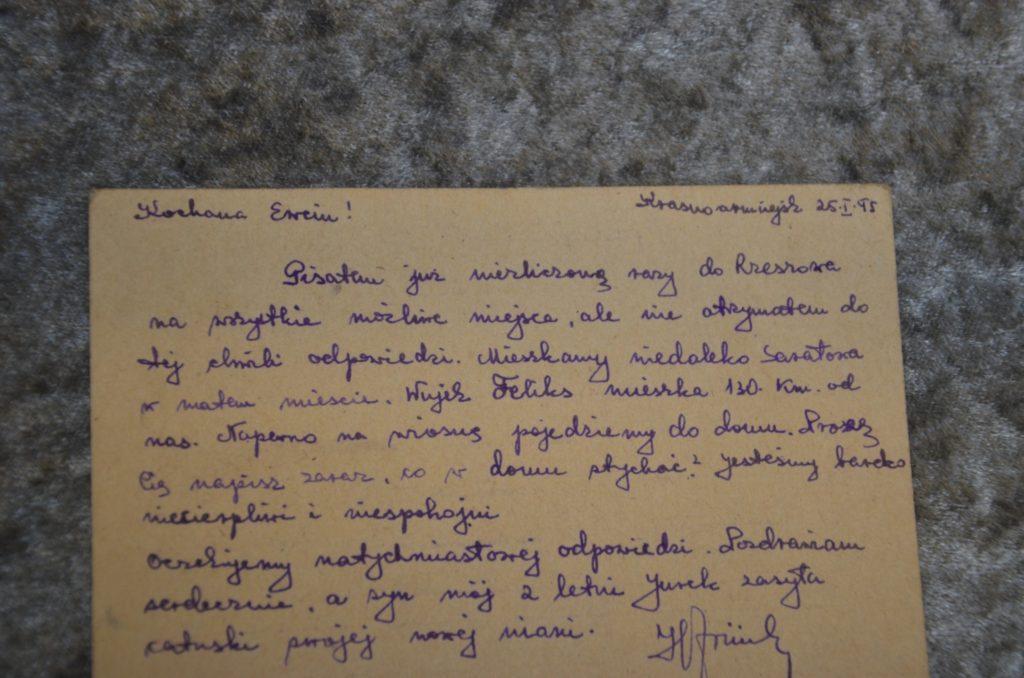 Fragment wystawy (list 3)