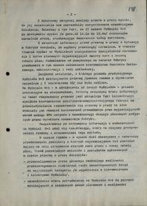 Informacja z dn. 18.08.1980 r. o przestoju pracy w Sanockiej Fabryce Autobusów Autosan na Wydziale W-5 w dniach 15-16 bm., s.138