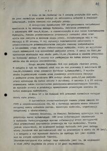 Informacja z dn. 18.08.1980 r. o przestoju pracy w Sanockiej Fabryce Autobusów Autosan na Wydziale W-5 w dniach 15-16 bm., s.141