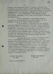Informacja z dn. 18.08.1980 r. o przestoju pracy w Sanockiej Fabryce Autobusów Autosan na Wydziale W-5 w dniach 15-16 bm., s.142