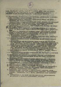 Lista postulatów złożona Komisji powołanej przez Ministra Cioska i Komisji NIK w dniu 7.01.1981 r. przez Ogólnopolski Komitet Strajkowy NSZZ Solidarność Wiejska w Ustrzyk