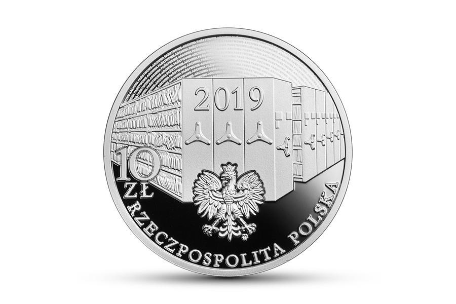 Moneta okolicznosciowa - 100 rocznica podpisania Dekretu o archiwach państwowych
