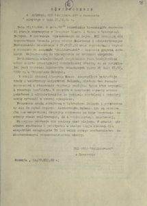 Oświadczenie z dn. 29.12.2020 r. z zebrania MKZ Solidarność w Rzeszowie popierające akcję strajkową w Ustrzykach Dolnych
