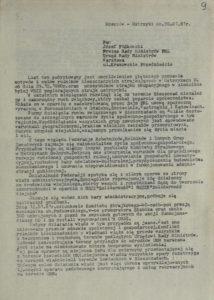 Pismo Komitetu Strajkowego w Ustrzykach Dolnych oraz w Rzeszowie NSZZ Solidarność i NSZZ Solidarność Wiejska z dn. 20.01.1981 r. do Prezesa Rady Ministrów PRL