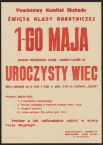 Plakat pierwszomajowy Leżajsk
