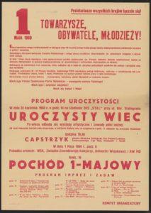 Plakat pierwszomajowy z 1960 roku Rzeszów