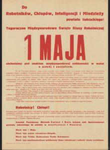 Plakat pierwszomajowy z 1961 roku Łańcut