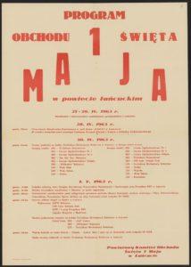 Plakat pierwszomajowy z 1963 roku Łańcut