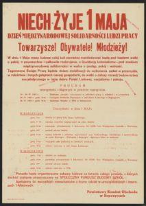 Plakat pierwszomajowy z 1963 roku Ropczyce