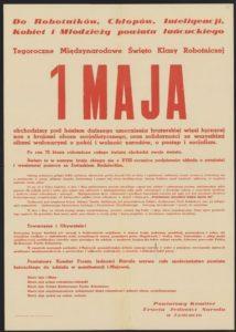 Plakat pierwszomajowy z 1964 roku Łańcut