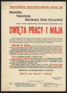 Plakat pierwszomajowy z 1972 roku Ustrzyki Dolne