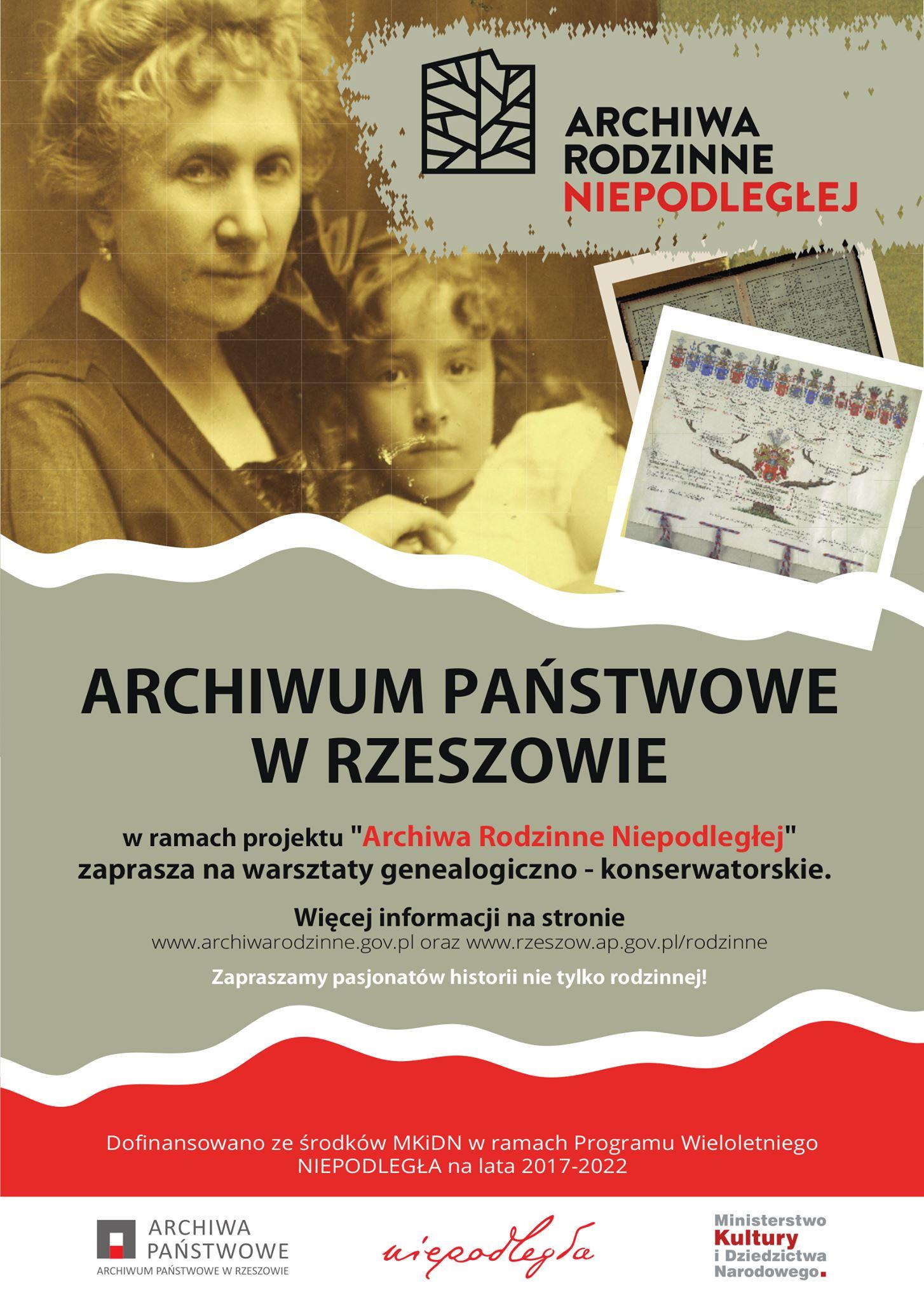 Plakat - warsztaty genealogiczne