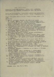 Postulaty społeczeństwa Bieszczadów warunkujące zakończenie strajku okupacyjnego Urzędu Miasta i Gminy w Ustrzykach Dolnych z dn. 29.12.1980 r.