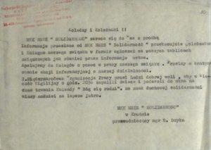 Prośba o rozpowszechnienie akcji informacyjnej o działalności MKK NSZZ Solidarność w Krośnie
