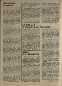 Solidarność Podkarpacka druk Regionalnej Organizacji Związkowej w Krośnie z dn. 25.04.1981 r. do użytku wewnątrzzwiązkowego, s.332
