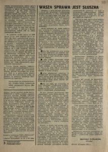 Solidarność Podkarpacka druk Regionalnej Organizacji Związkowej w Krośnie z dn. 25.04.1981 r. do użytku wewnątrzzwiązkowego, s.333