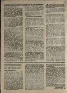 Solidarność Podkarpacka druk Regionalnej Organizacji Związkowej w Krośnie z dn. 25.04.1981 r. do użytku wewnątrzzwiązkowego, s.334