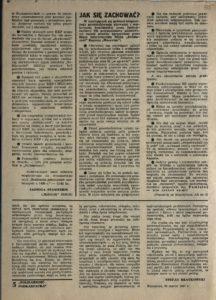 Solidarność Podkarpacka druk Regionalnej Organizacji Związkowej w Krośnie z dn. 25.04.1981 r. do użytku wewnątrzzwiązkowego, s.335