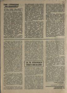 Solidarność Podkarpacka druk Regionalnej Organizacji Związkowej w Krośnie z dn. 25.04.1981 r. do użytku wewnątrzzwiązkowego, s.336