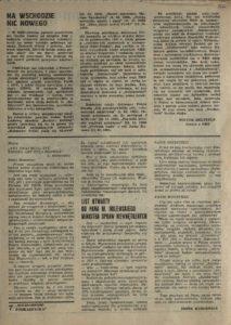 Solidarność Podkarpacka druk Regionalnej Organizacji Związkowej w Krośnie z dn. 25.04.1981 r. do użytku wewnątrzzwiązkowego, s.337