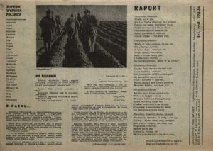 Solidarność Podkarpacka druk Regionalnej Organizacji Związkowej w Krośnie z dn. 25.04.1981 r. do użytku wewnątrzzwiązkowego, s.338