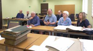 Wizyta amerykańskich geneaologów - sala prelekcyjnabrak