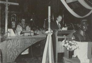 Zdjęcie z Mszy Św. odprawionej w kościele Przemieniania Pańskiego w Sanoku