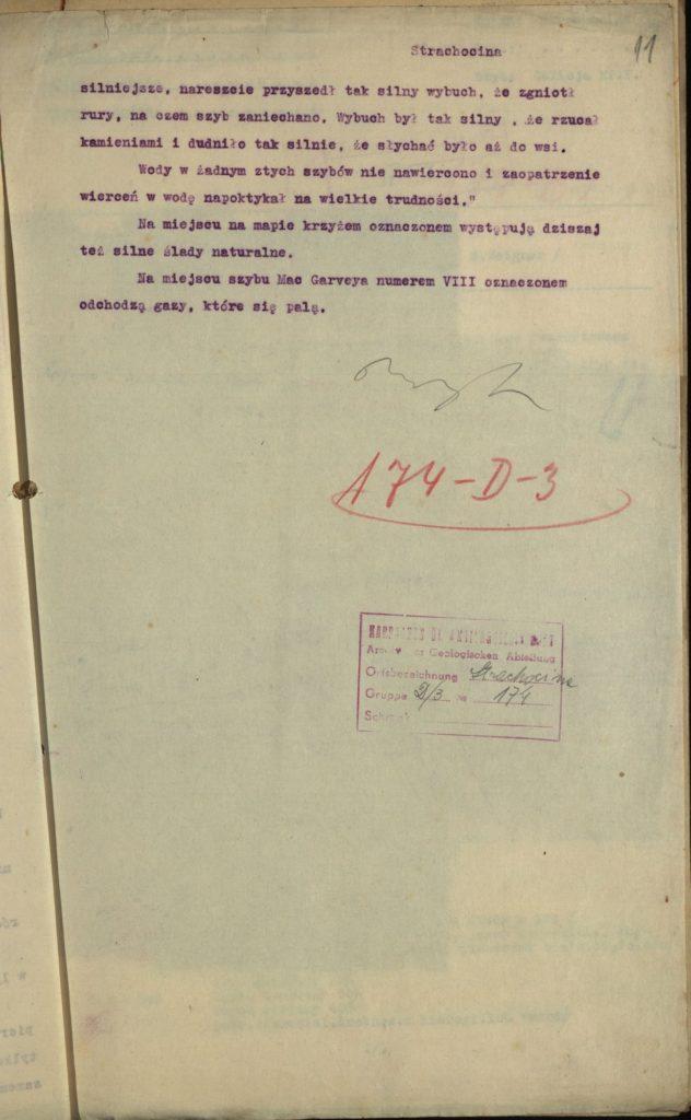 Pierwsze wiercenia w Strachocinie 1923 r. 2
