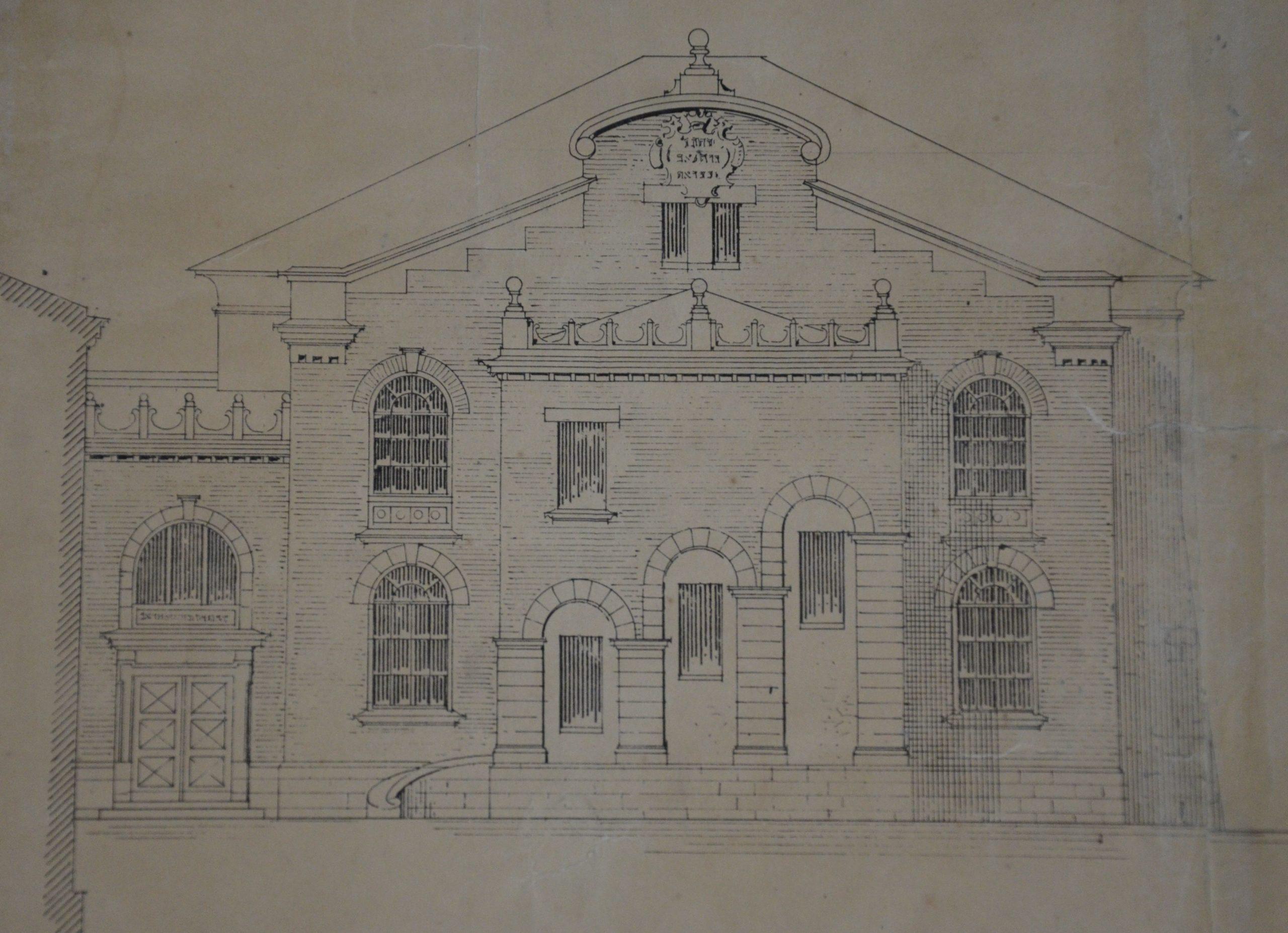 Plan techniczny fasady budynku
